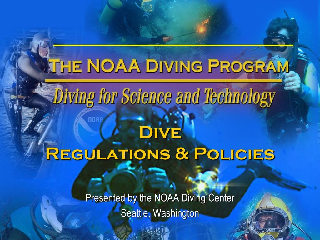 dive regulations policies l.
