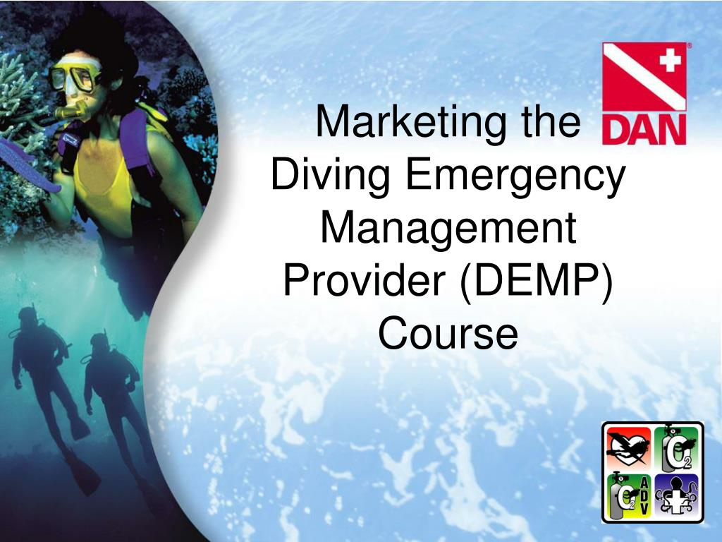marketing the diving emergency management provider demp course l.