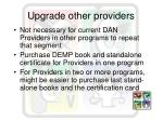 upgrade other providers