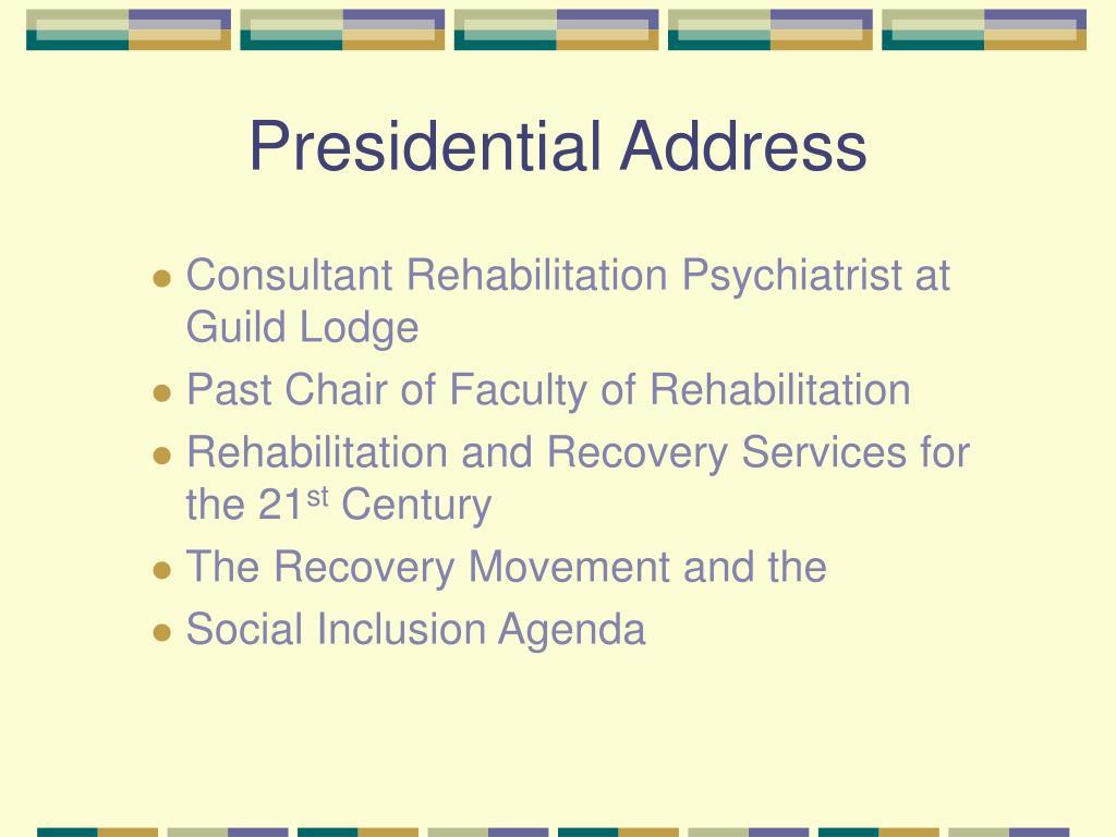 presidential address l.