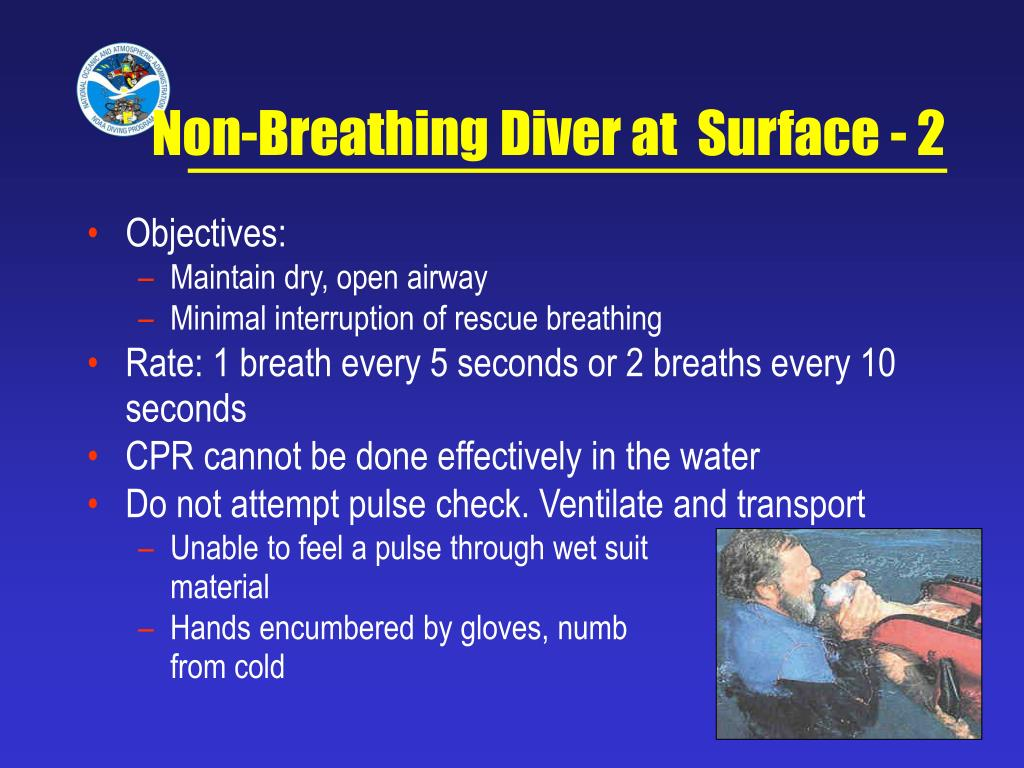 Non-Breathing Diver at  Surface - 2