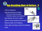 non breathing diver at surface 3