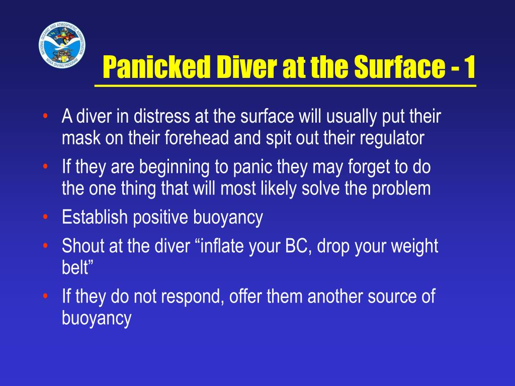 Panicked Diver at the Surface - 1