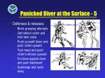 panicked diver at the surface 5