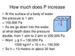 how much does p increase