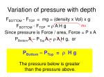 variation of pressure with depth6