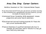 area one stop career centers