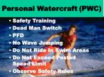 personal watercraft pwc