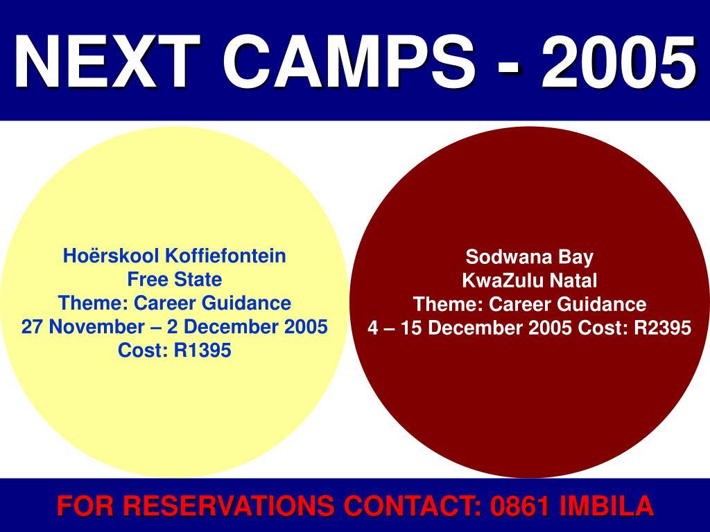 NEXT CAMPS - 2005