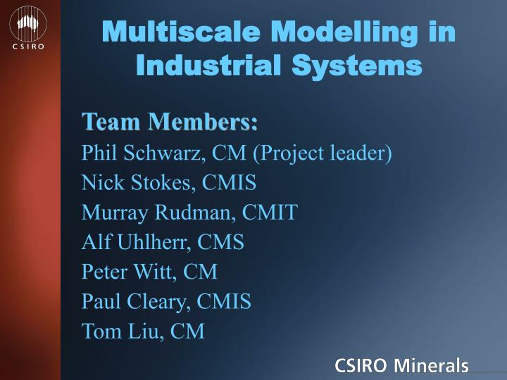 Multiscale modelling in industrial systems