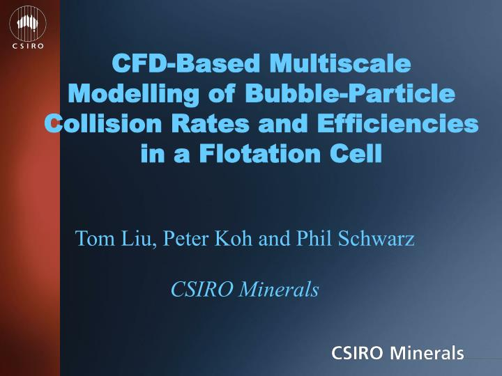 CFD-Based Multiscale Modelling of Bubble-Particle Collision Rates and Efficiencies in a Flotation Ce...