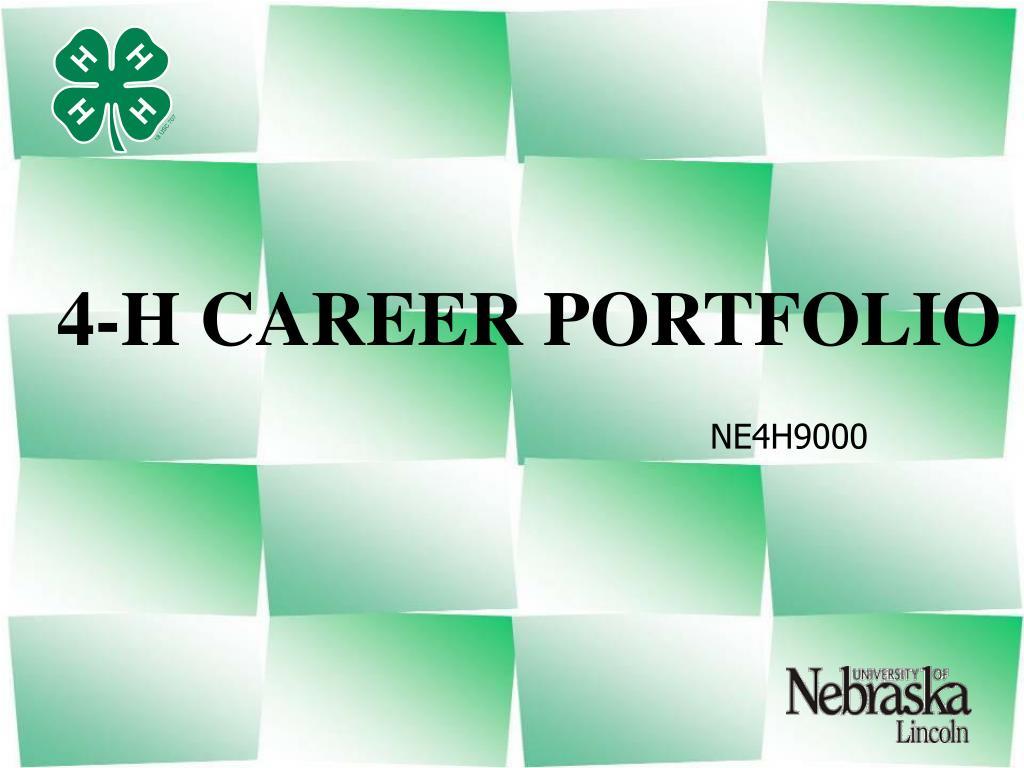 4 h career portfolio l.