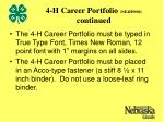4 h career portfolio ne4h9000 continued13