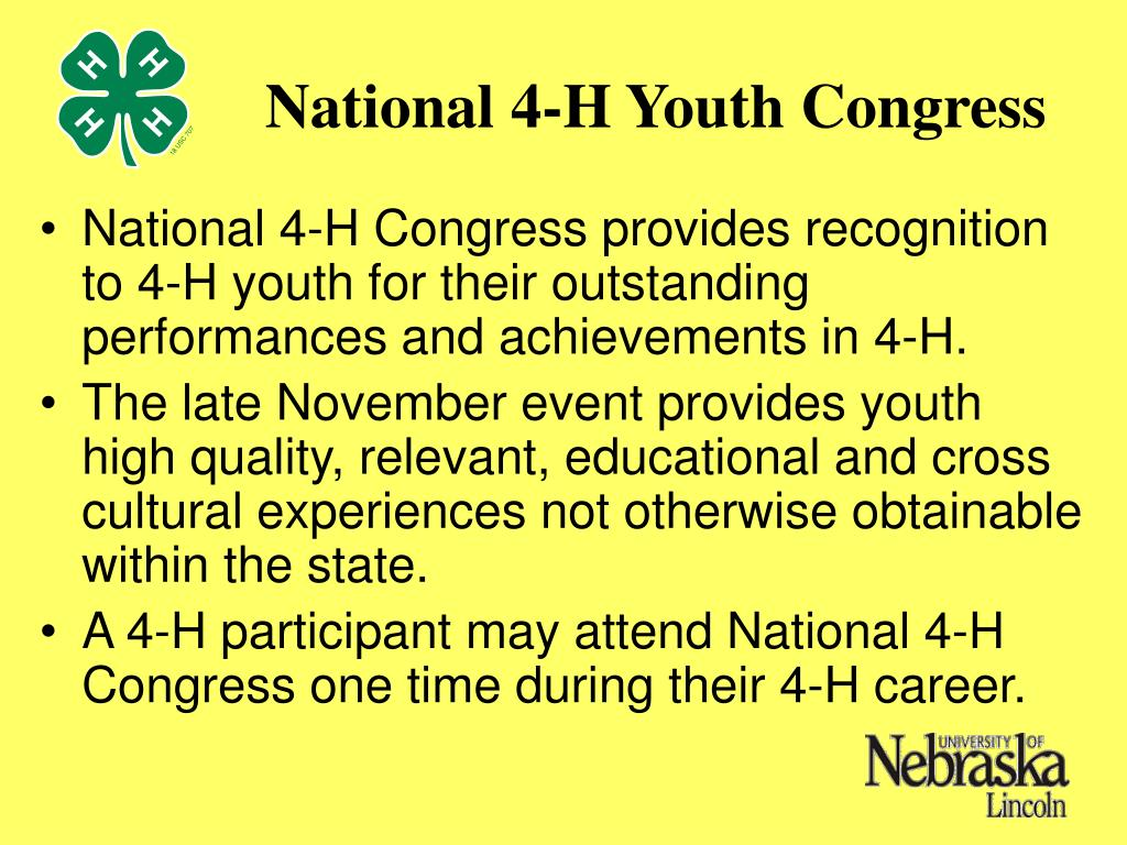 National 4-H Youth Congress