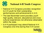 national 4 h youth congress