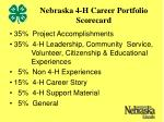 nebraska 4 h career portfolio scorecard