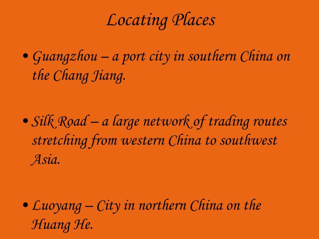 Locating Places