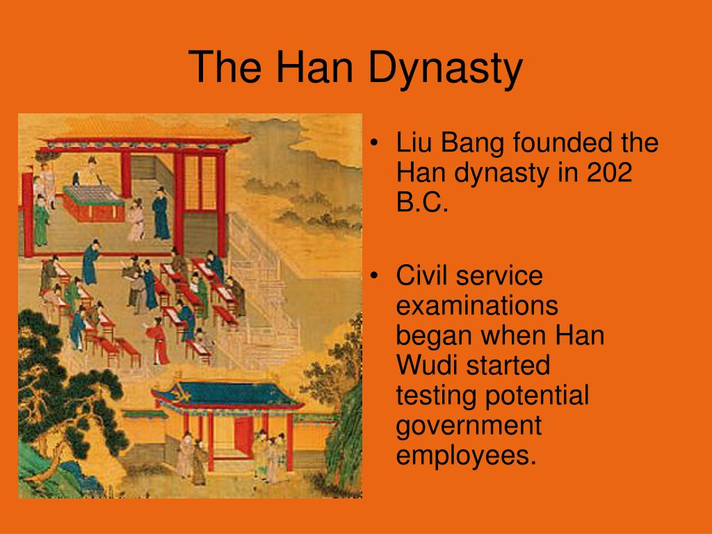 Liu Bang founded the Han dynasty in 202 B.C.