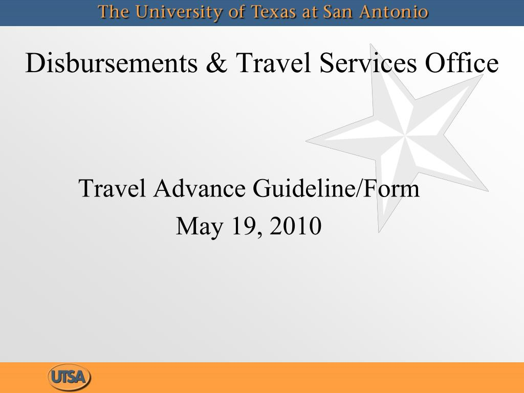 disbursements travel services office l.