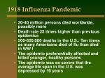 1918 influenza pandemic