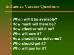 influenza vaccine questions