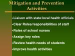 mitigation and prevention activities