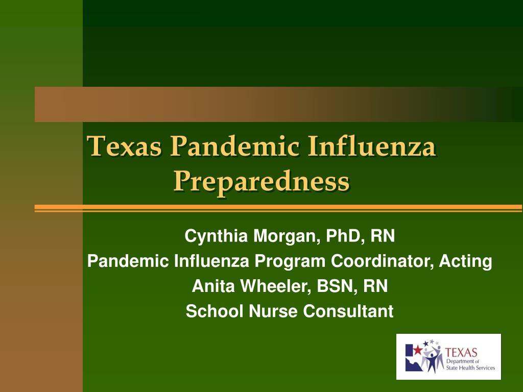 texas pandemic influenza preparedness l.