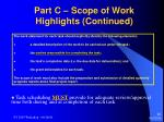 part c scope of work highlights continued20