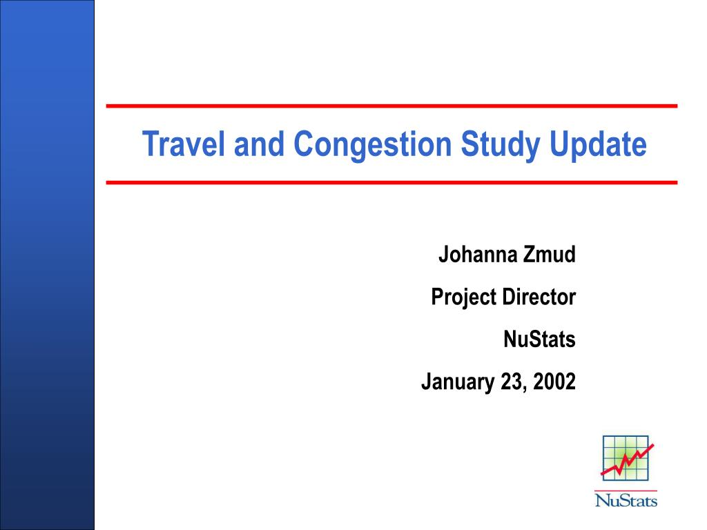 travel and congestion study update l.