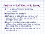 findings staff electronic survey