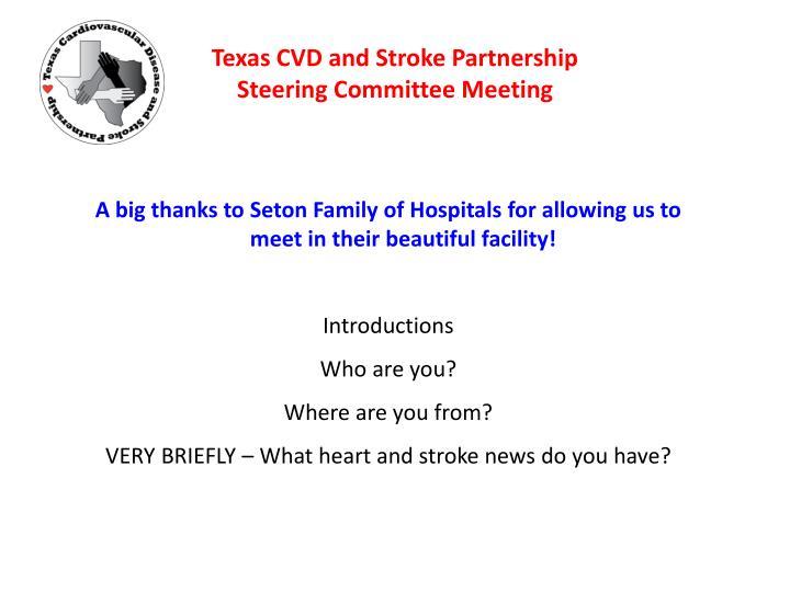 Texas cvd and stroke partnership steering committee meeting2