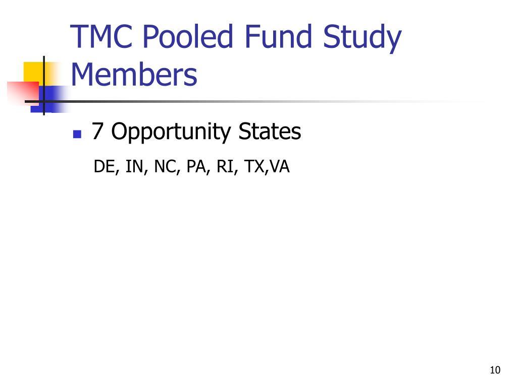TMC Pooled Fund Study Members