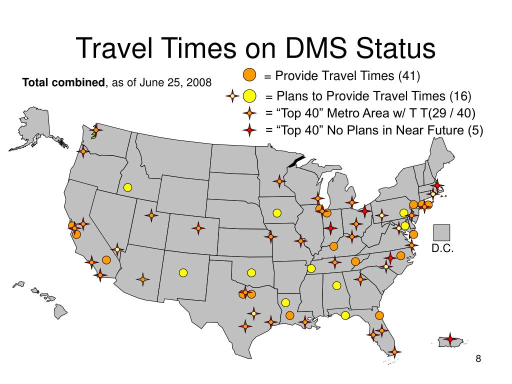 Travel Times on DMS Status