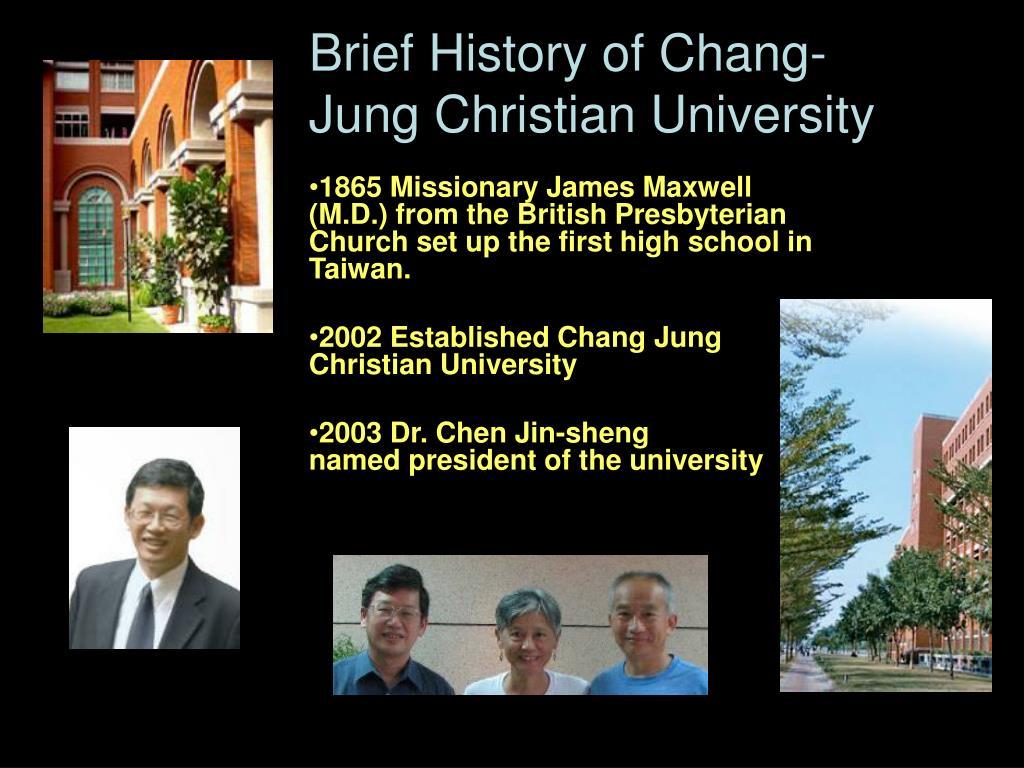Brief History of Chang-Jung Christian University