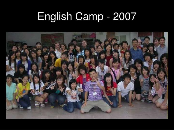 English camp 2007