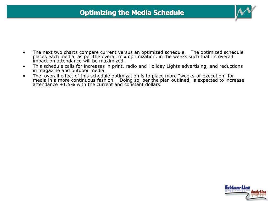 Optimizing the Media Schedule