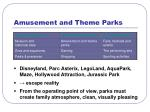 amusement and theme parks