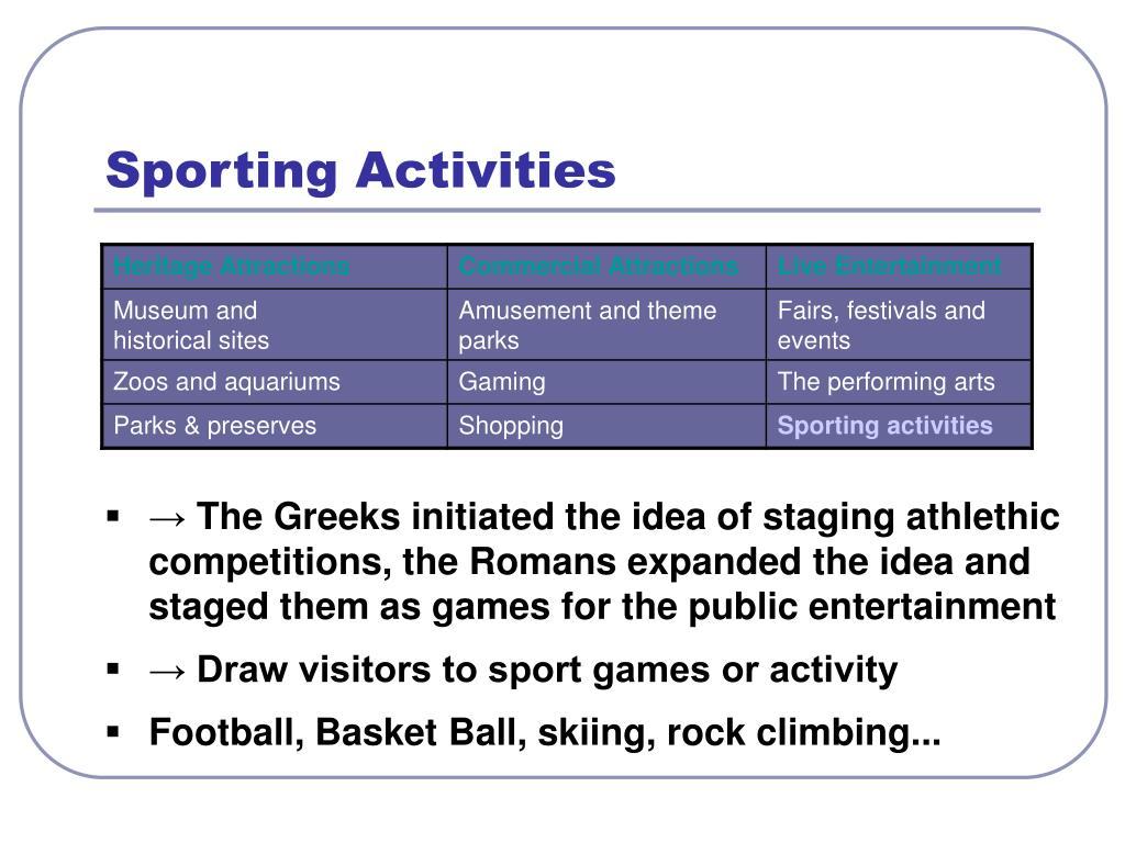 Sporting Activities