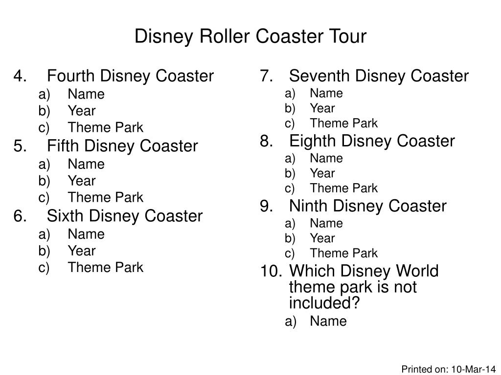 Fourth Disney Coaster