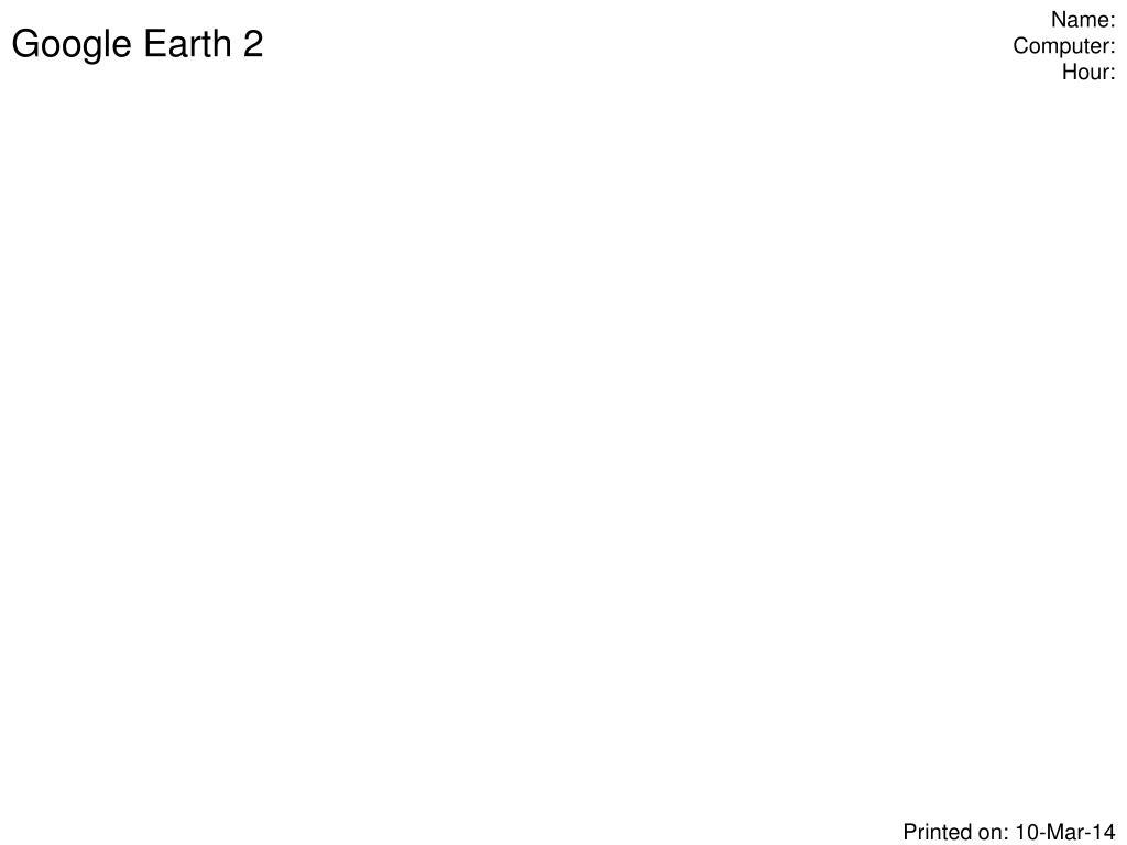 google earth 2 l.