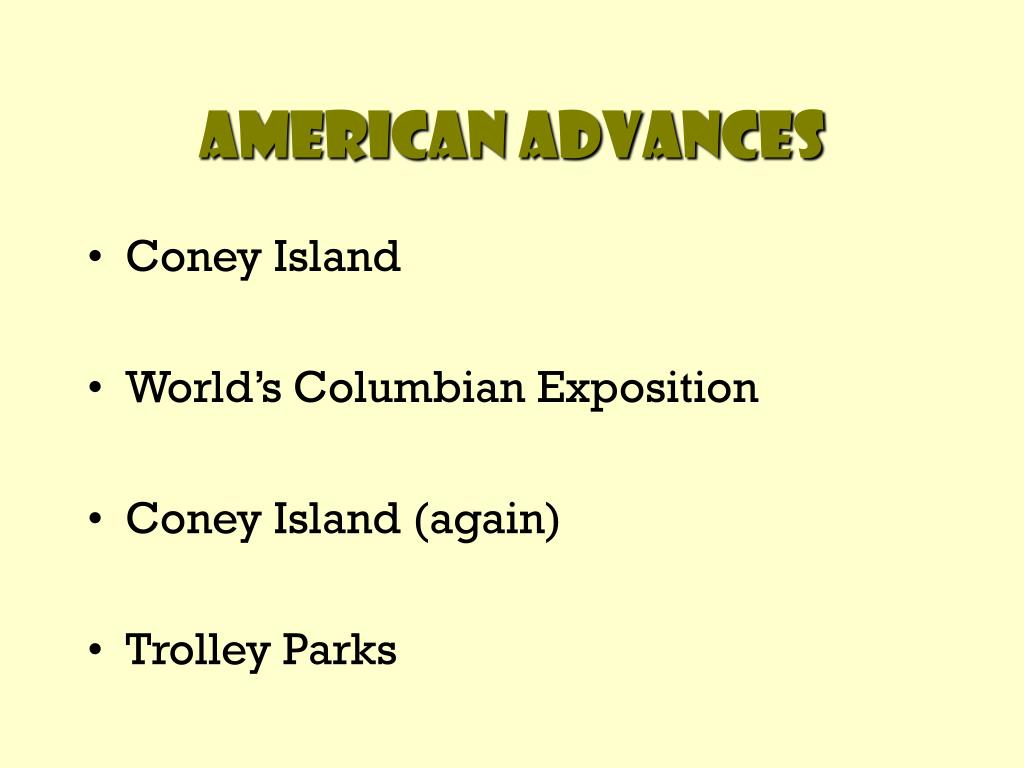 American Advances