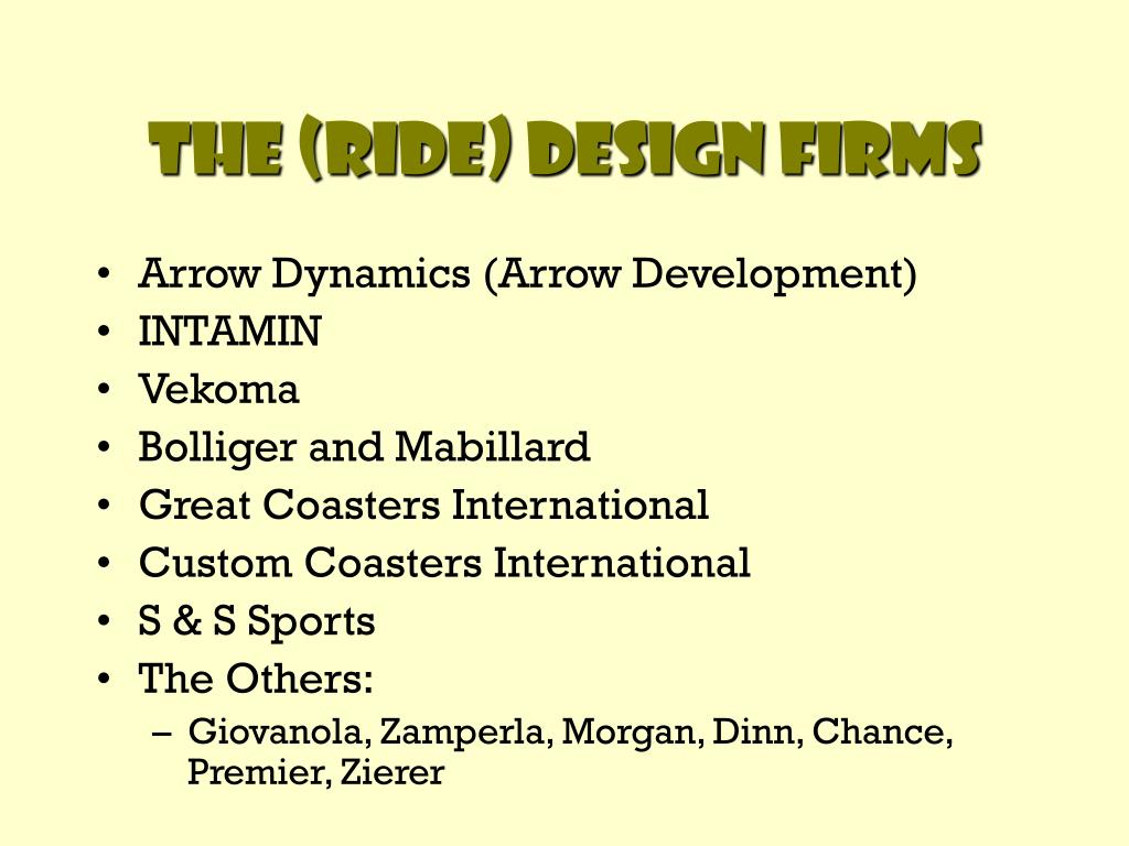 The (Ride) Design Firms