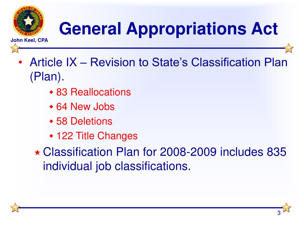 General Appropriations Act