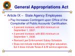 general appropriations act6