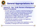 general appropriations act9