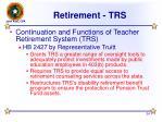 retirement trs