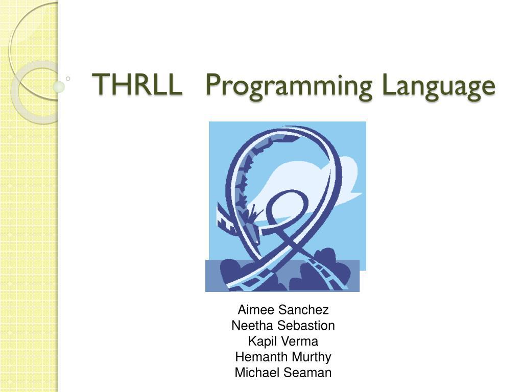 thrll programming language