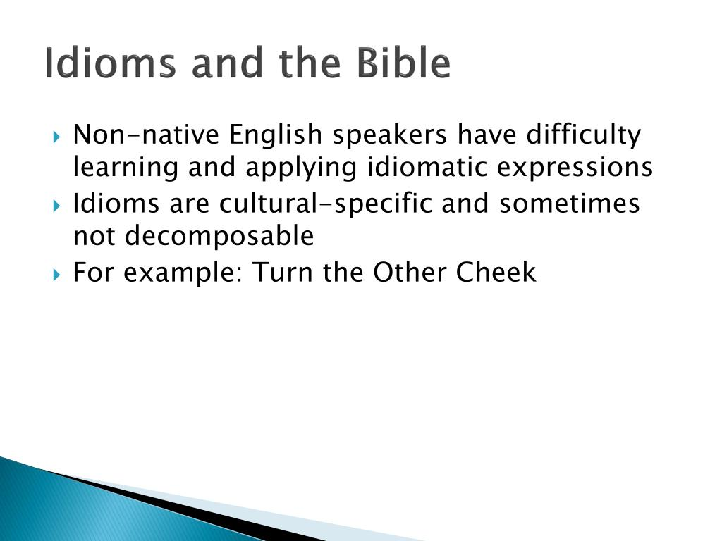 Idioms and the Bible