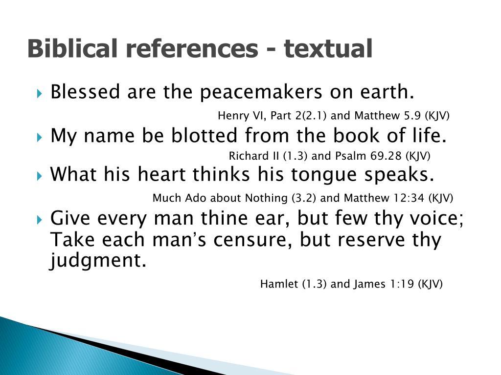 Biblical references - textual