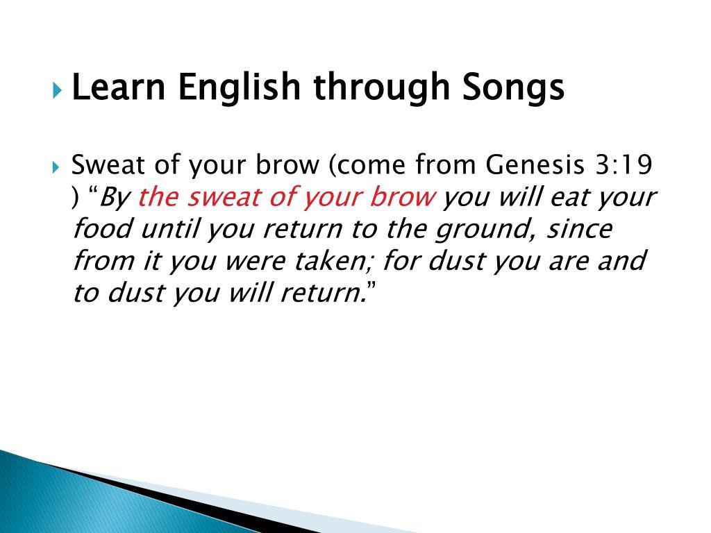 Learn English through Songs